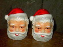 SANTA CLAUS SALT PEPPER SHAKERS BRINNS PITTSBURGH PENNSYLVANIA