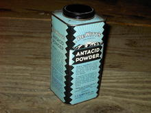 DEWITTS ANTACID POWDER TIN CAN CHICAGO ILLINOIS