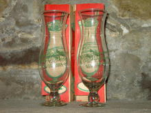 NEW ORLEANS PAT O BRIENS COCKTAIL GLASS STEM  ORIGINAL BOX