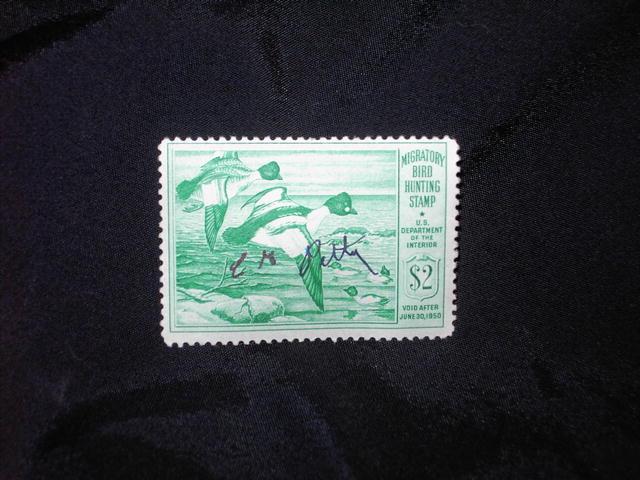 MIGRATORY BIRD DUCK HUNTING STAMP 1949 1950 GOLDENEYE