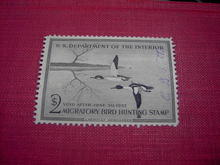MIGRATORY BIRD DUCK HUNTING STAMP 1956 1957 AMERICAN MERGANSER