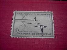 MIGRATORY BIRD DUCK HUNTING STAMP 1956 1957 AMERICAN MERGANSER