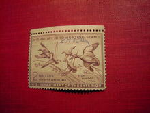 MIGRATORY BIRD DUCK HUNTING STAMP 1953 1954 BLUE WINGED TEAL