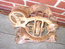 FAIRFIELD IOWA LOUDEN JUNIOR HAYRICK BARN PULLEY HAYLOFT HAYMOW TOOL CAST IRON FARM RANCH WHEEL