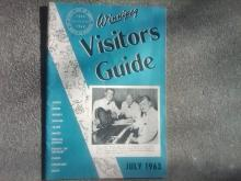 WINNIPEG MANITOBA VISITORS GUIDE PUBLICATION JULY 1963 CANADA TOURIST BOOKLET SOUVENIR PAMPHLET