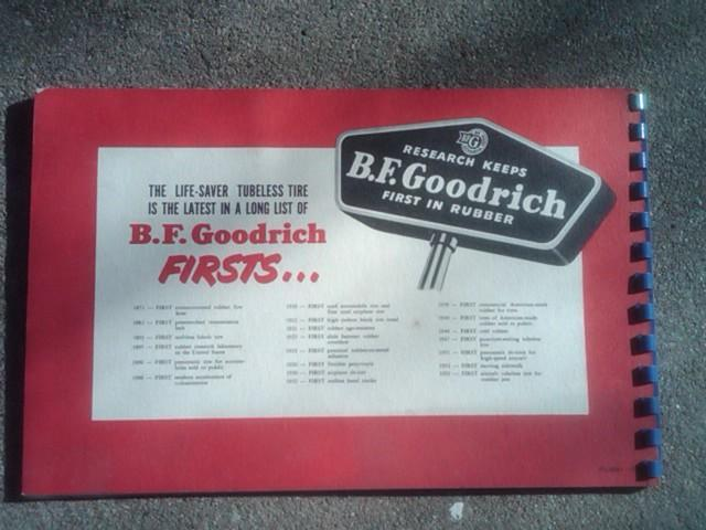 B F GOODRICH TUBELESS TIRE ADVERTISING BOOKLET AUTOMOBILE REPAIR SHOP CATALOG CAR GARAGE SALES PUBLICATION