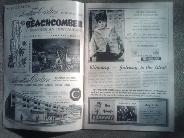 WINNIPEG MANITOBA VISITORS GUIDE PUBLICATION JULY 1963 CANADA TOURIST BOOKLET SOUVENIR PAMPHLET