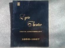 LYRIC THEATER PLAY PUBLICATION KANSAS CITY MISSOURI THEATRE BOOKLET 1967 TEN YEAR ANNIVERSARY ISSUE PLAYBILL