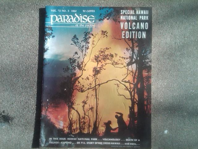 HAWAII PARADISE ISLAND MAGAZINE VOLCANO EDITION 1960 TOURIST GUIDE