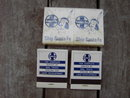 SANTA FE RAILROAD MATCHES FULL MATCHBOOKS INDIAN KID SUPERIOR MATCH CHICAGO ILLINOIS