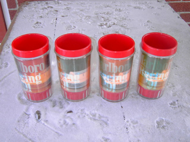 MARLBORO INDY CAR AUTO RACING MUGS 1991 PUNCH USA