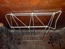 WIRE SHOE RACK COLLAPSIBLE METAL STAND APPAREL DISPLAY FIXTURE