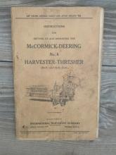 mccormick deering international harvester chicago illinois thresher number 8 owners manual instruction book parts list pamphlet farm ranch booklet