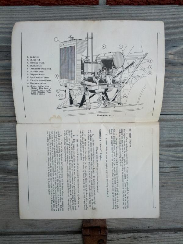 mccormick deering model xa engine number 8 thresher instruction booklet parts list pamphlet international harvester company chicago illinois 1929 farm ranch publication