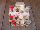 HOLT HOWARD FLOWER BOUQUET TABLE PLACE CARD HOLDERS ORIGINAL BOX
