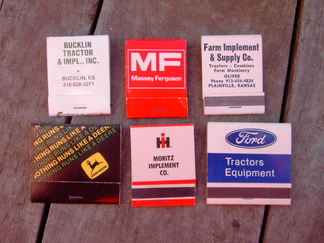 JOHN DEERE MASSEY FERGUSON FORD INTERNATIONAL HARVESTER IMPLEMENT MATCH BOOKS