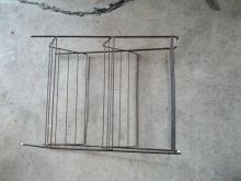 wire record stand 1950's vinyl storage rack
