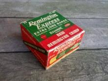 remington express extra long range shotgun shell box hunting sport collectible cardboard advertising