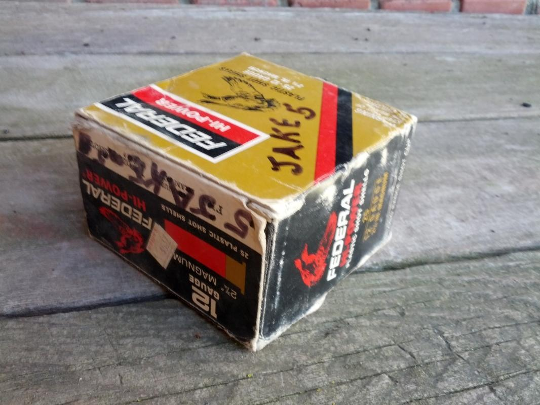 federal hi power shotgun shell box cardboard hunting collectible
