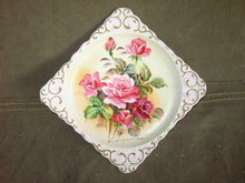 ENESCO PINK ROSE FLOWER PLAQUE WALL DECORATION PICTURE