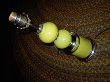 YELLOW GLASS BALL LAMP RETRO LIGHT FIXTURE