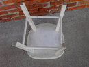 WHITE PAINTED PLANT STAND GARDEN STOOL CHAIR WIDE PLATFORM TOP