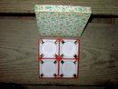 GOLD WHITE GLASS ASHTRAY GIFT BOX SET RETRO FEATHER ORIGINAL PACKAGE
