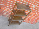 OAK WOOD BOOKCASE  SHELF STORAGE RACK