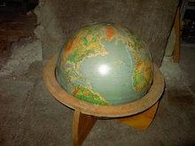 CARTOCRAFT WORLD GLOBE DENOYER GEPPERT CHICAGO ILLINOIS TEACHING TOOL GEOGRAPHY SCHOOL PROP