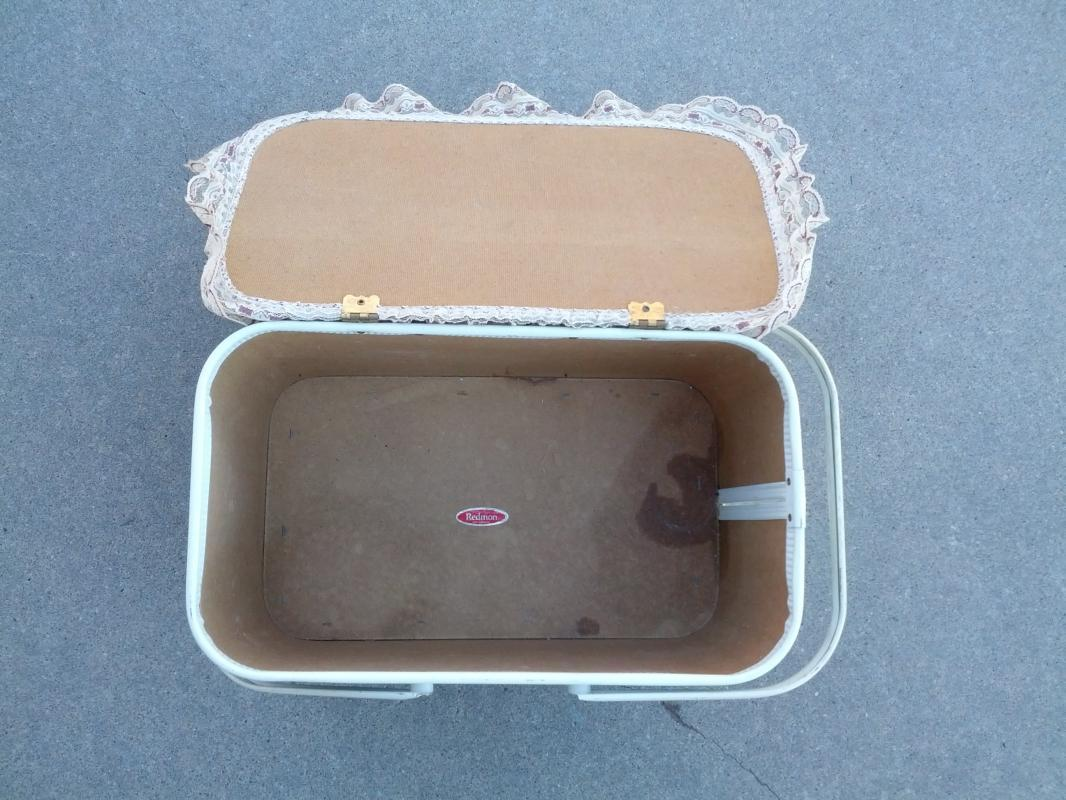 REDMON USA AMERICAN MADE PICNIC BASKET FOOD TOTE 1950'S LUNCH CARRIER BOX