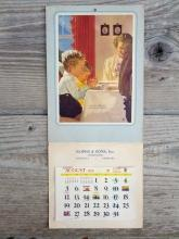 1956 lincoln nebraska roper sons mortician calender give us this day our daily bread paper print wall decoration