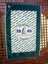 blue heron pines united states amateur 2003 public links golf bag towel golfing collectible