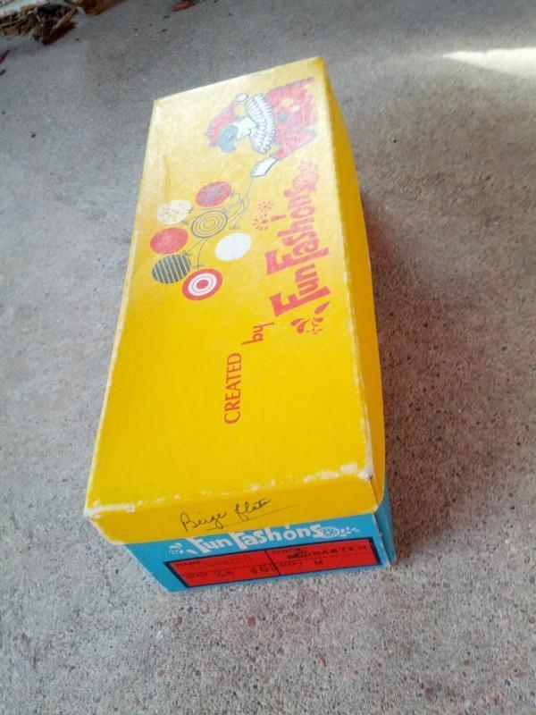 fun fashions colorful shoe box childrens apparel advertising clown balloon haiti