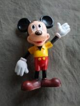 mickey mouse figurine 1970's era walt disney marx toys hong kong collectible statue childs room decoration