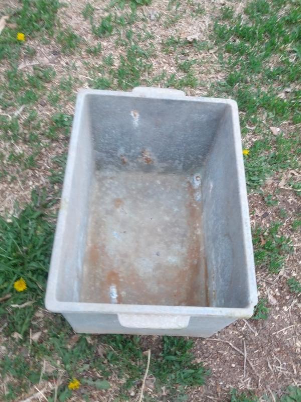 cast aluminum planter box factory parts storage container tool tub