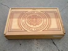 paul masson vineyards saratoga california wooden crate wine bottle shipping box