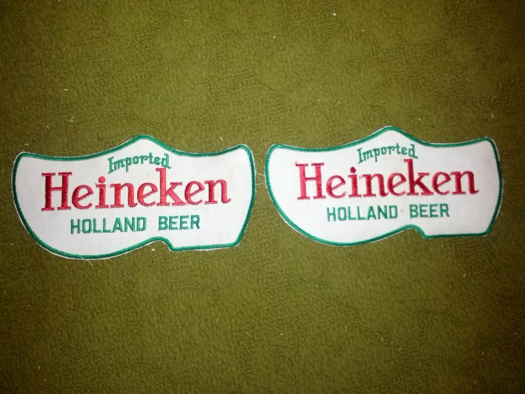 HEINEKEN HOLLAND BEER PATCH DUTCH SHOE SHAPED TRUCK DRIVER UNIFORM DECORATION SEW ON CERVESA ADVERTISING EMBLEM