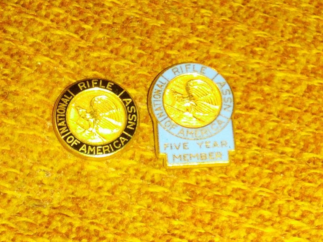 national rifle association membership pin coat tie tack leavens gold filled jewelry decoration