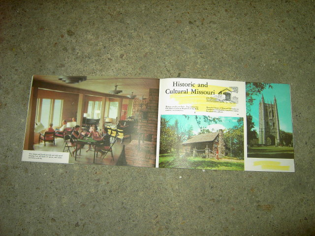 MISSOURI TRAVEL TOURISM BOOKLET PICTORIAL BROCHURE GUIDE