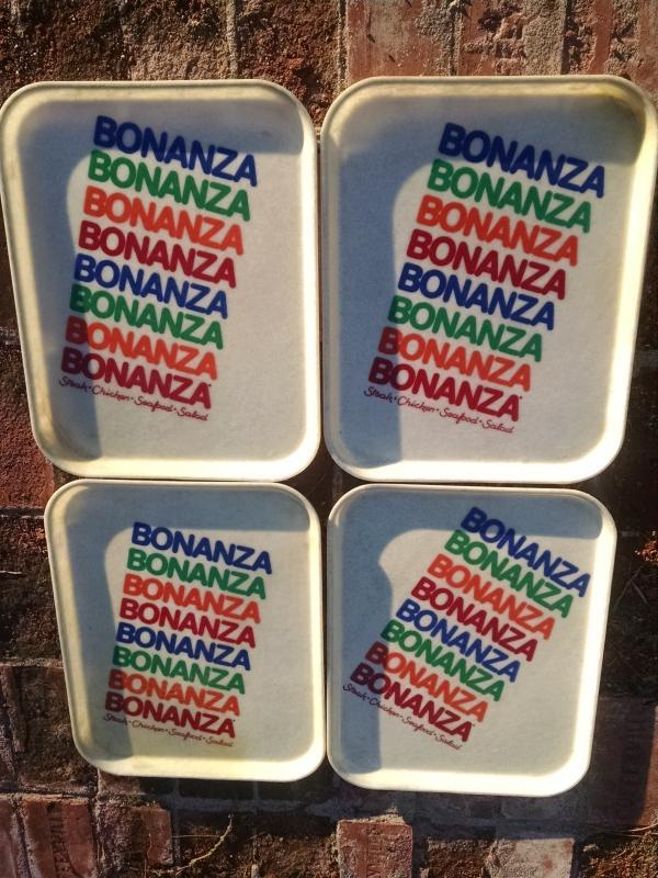 BONANZA STEAKHOUSE FIBERGLASS TRAY FOOD SERVICE BEVERAGE SERVER RETRO ERA  LUNCHROOM UTENSIL RESTAURANT WARE