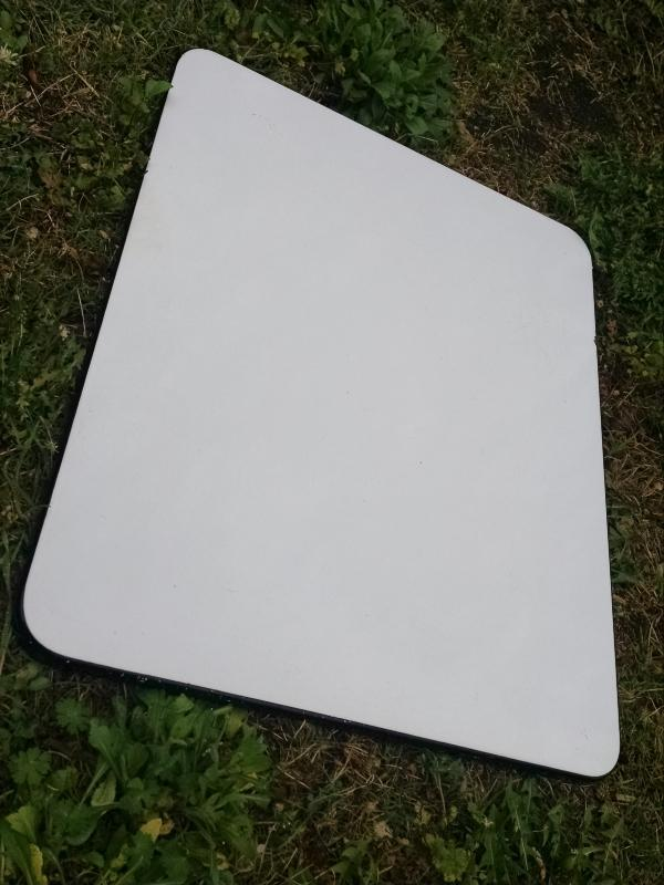 white porcelain  black edge enamelware kitchen cabinet top granite enamel coated steel cutting board