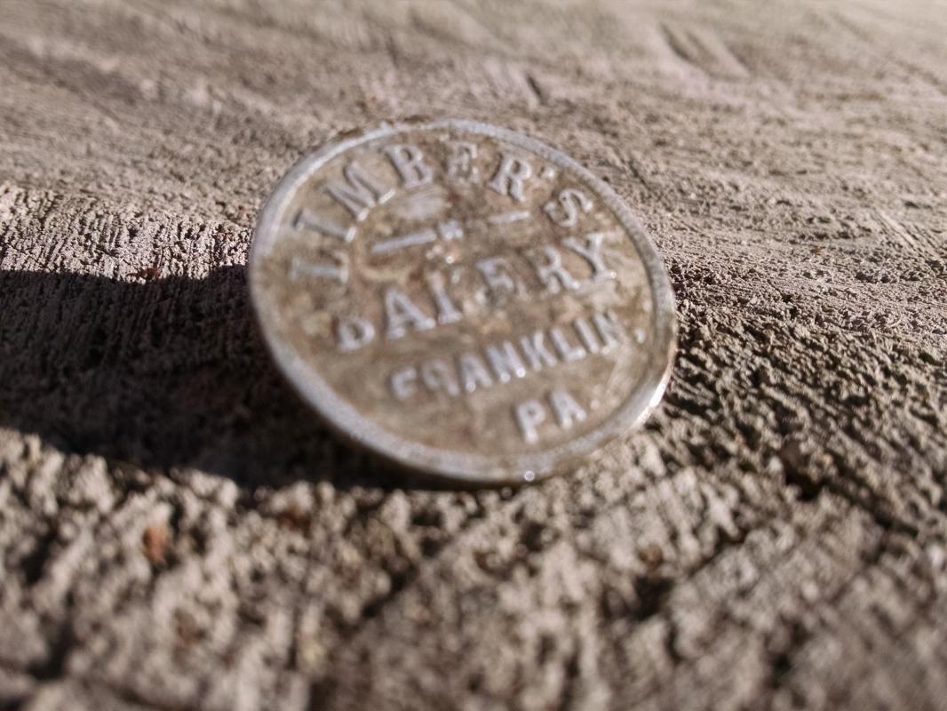 LIMBER'S BAKERY BREAD TOKEN FRANKLIN PENNSYLVANIA TRADE COIN
