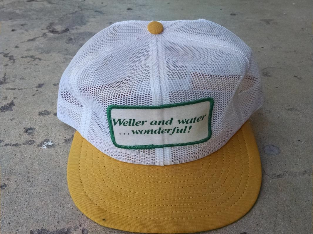 WELLER WATER WONDERFUL RETRO BALL CAP BASEBALL STYLE HAT USA MADE HEADWEAR