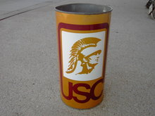 SOUTHERN CALIFORNIA TROJAN USC TRASH CAN