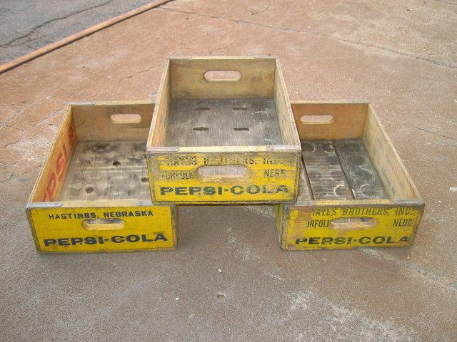 PEPSI COLA CRATE WOODEN SODA POP SOFT DRINK BOTTLE TOTE CARRY CASE HASTINGS NEBRASKA NORFOLK HAYES BROTHERS ADVERTISING