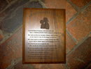 FIREMAN FIREFIGHTERS WIFE WALL PLAQUE WALNUT WOOD ROOM DECORATION