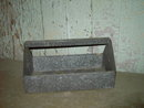 GALVINIZED METAL NAIL TOTE PLANT FLOWER POT CADDY