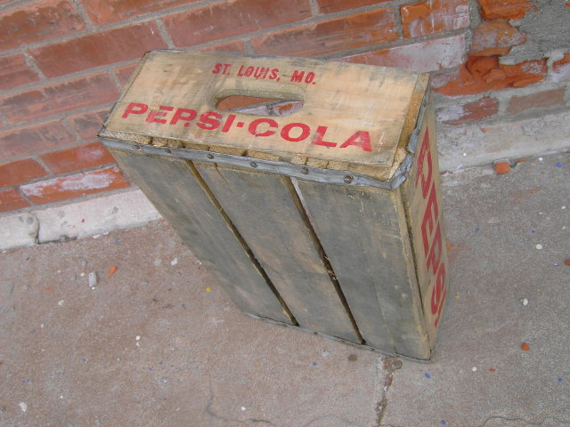 PEPSI COLA CRATE POP TOTE ST LOUIS MISSOURI WOODEN BOX CASE