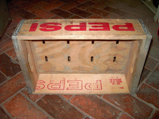 PEPSI COLA CRATE POP BOTTLE TOTE CASE SALINA KANSAS STAMP