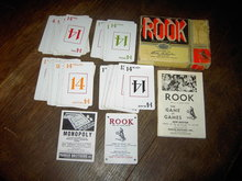 ROOK CARD GAME PARKER BROTHERS DEPRESSION ERA BIDDING TRICK PASTIME